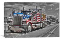 American Circus truck, Canvas Print