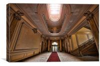 chateau lumiere main hallway., Canvas Print