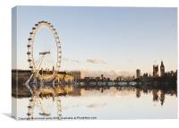 Thames-side Reflections, Canvas Print
