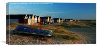 Mudeford Beach Huts, Canvas Print