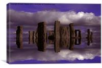 Stonehenge Reflections, Canvas Print
