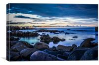 Ugie Beach,Peterhead Scotland by Bob Stephen, Canvas Print