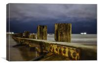 Aberdeen Beach at Night by Bob Stephen, Canvas Print