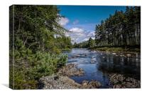 The River Dee, Royal Deeside, Scotland by Bob Step, Canvas Print