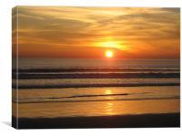 San Diego sunset, Canvas Print