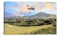 Memorial Flyby, Canvas Print