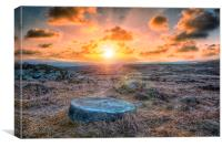Sunset at Stanage, Canvas Print