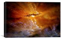 """Fire in the Sky"", Canvas Print"
