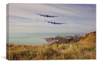 Lancasters Capel le Ferne flyby, Canvas Print