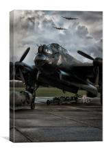 Three Lancasters, Canvas Print