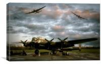 The Avro Lancaster Trio, Canvas Print