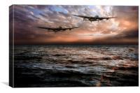 Lancaster Bombers, Canvas Print