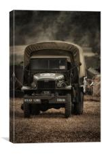 US Army Truck, Canvas Print