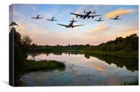 Battle of Britain Memorial Flight , Canvas Print