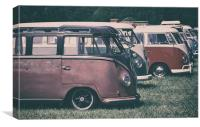 VW Buses , Canvas Print