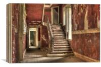 Red Stair Party, Canvas Print