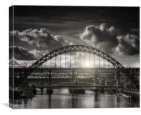 :Tyne bridge:, Canvas Print
