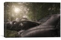 Car grave yard, Canvas Print