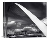 :MIllennium bridge:, Canvas Print