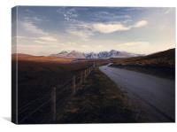 Road to Cuillin mountains., Canvas Print