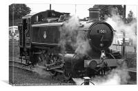 GWR Class 15xx 0-6-0PT No.1501, Canvas Print