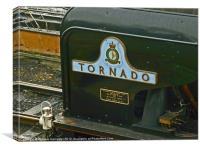 A1 Peppercorn Tornado name plate, Canvas Print