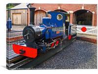 Exbury Garden Steam Locomotive Naomi, Canvas Print