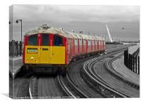 Isle Of Wight Ex London Underground Class 483, Canvas Print