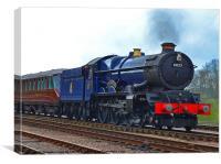 GWR King Class No 6023 King Edward II, Canvas Print