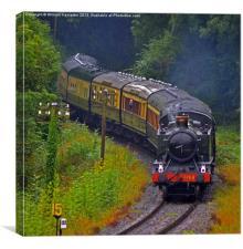 Severn Valley Railway GWR 51XX Class, Canvas Print