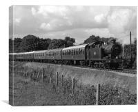 GWR 56XX Class No.6695 B&W, Canvas Print