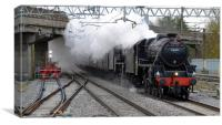 The Cathedrals Express Double Headed Black 5s, Canvas Print