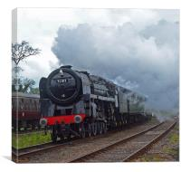 """Britannia Class No.70013 """"Oliver Cromwell"""", Canvas Print"""