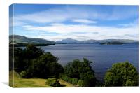 Loch Lomond Landscape, Canvas Print