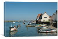 Wells Next The Sea Harbour, Canvas Print