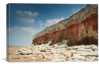 Hunstanton Cliffs, Norfolk, Canvas Print