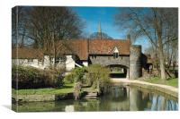 Pulls Ferry, Norwich, Canvas Print