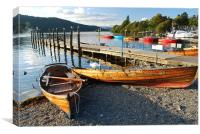 Rowing Boats on shore of Lake Windermere, Canvas Print