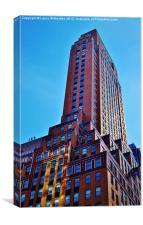 New York Sky Scraper, Canvas Print