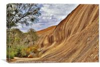 Wave Rock Australia, Canvas Print