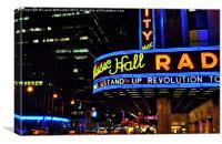Radio City, Canvas Print