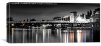 Marlow Bridge Colour Pop, Canvas Print
