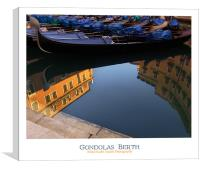 Gondolas Berth, Canvas Print