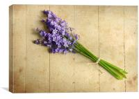 Bluebells bouquet, Canvas Print