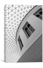 The British Museum London - Black & White, Canvas Print
