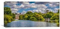 London Eye from St Jamess Park, Canvas Print