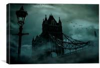 Tower Bridge Black out, Canvas Print