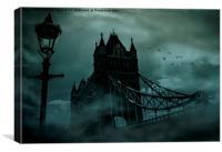 Tower Bridge 1894 Black out, Canvas Print
