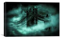 Tower Bridge 1894 Black out 2, Canvas Print