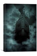 Big Ben 1859 London Black out, Canvas Print